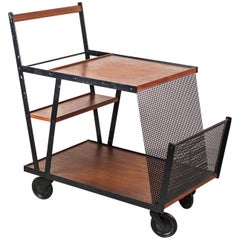 Bar Cart Vienna circa 1950s with Punched Grid