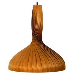 Extra Large Hans Agne Jakobsson Slats Chipboard Pendant Light for Markaryd