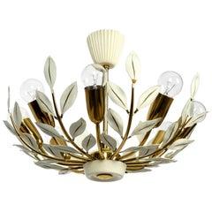 Mid Century Brass Sputnik Ceiling Lamp with 8 Arms Vereinigten Werkstätten