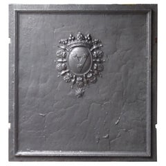 Magnificent 17th-18th Century French Louis XIV 'Coat of Arms' Fireback