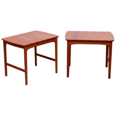 Side Tables in Solid Teak by Yngvar Sandström for Säffle Möbelfabrik, 1960s