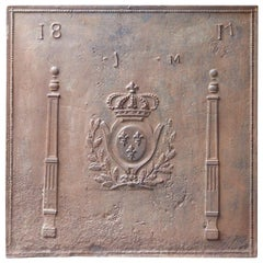 19th Century French Neoclassical 'Arms of France' Fireback