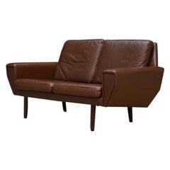 Sofa Leather Vintage Danish Design Retro