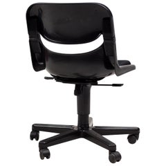 Dorsal All Black Desk Chairs by Emilio Ambasz