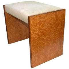 Art Deco Bird's-Eye Maple Bedroom Stool