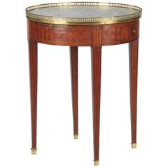 French Louis XVI Style Marble-Top Bouillotte Table, Early 1900s