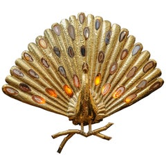 Brass Sconce Peacock Shaped