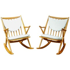Vintage Pair of Rocking-Chairs