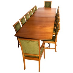 African Mahogany Extendable Dining Table by Edward Barnsley, England, circa 1956