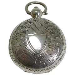 Antique English Sterling Silver Sovereign Case, 1903
