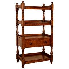 19th Century English Oak Narrow Shelf