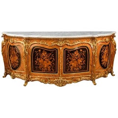 Victorian Marquetry Side Cabinet in the French Taste