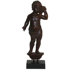 Small 18th Century Italian Carved Wooden Angel