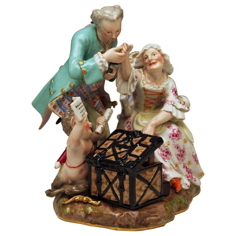Meissen Figurines Ancient Love Legacy Hunter Model A 46 Kaendler made circa 1870