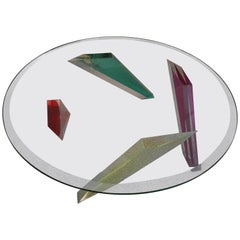 Haziza Multicolor Lucite Coffee Table
