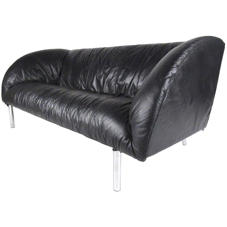 Stylish Modern Small Leather Sofa