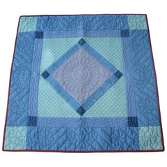 Antique Quilt, Amish  Diamond in a Square Crib Quilt