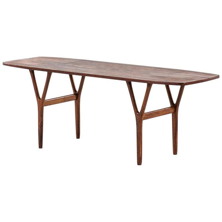 Coffee Table in Rosewood in the Style of Helge Vestergaard Jensen