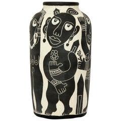 Black and White Vase by Ledesma