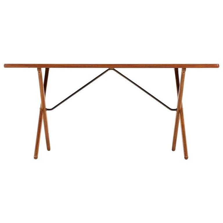 Hans Wegner Dining Table/Desk Model AT-303 Produced by Andreas Tuck in Denmark