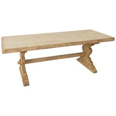 French Artisan-Made Oak Monastery Table, Farm Table, or Dining Table, circa 1900