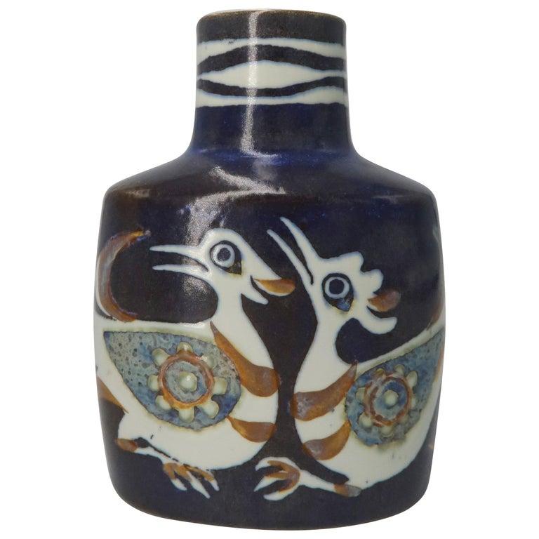Nils Thorsson For Royal Copenhagen Faience Baca Vase At 1stdibs