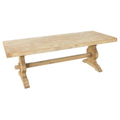 French Artisan-Made Oak Monastery Table, Farm Table or Dining Table, circa 1900