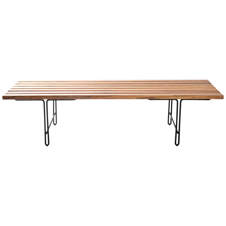 """Minimalist Brazilian Bench in Solid Wood """"Ruy"""" by Samuel Lamas"""