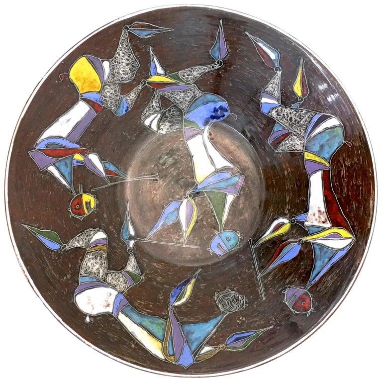 Large Centerpiece Bowl by Marcello Fantoni 1970s