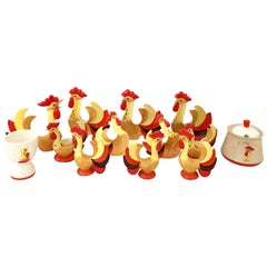 1960s Ceramic 'Red Rooster Coq Rougue' S/14 by, Holt Howard