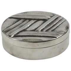 French Designer L. Guilbaud 1930s Art Deco Dinanderie Pewter Box
