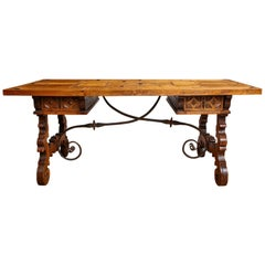 Spanish Baroque Style Refectory Table