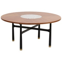 Huge Harvey Probber Walnut and Terrazzo Marble Table