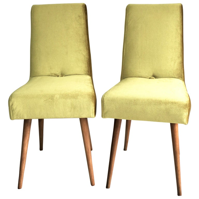 Set of Two Yellow Chairs from 1970s