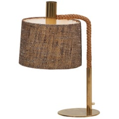Elegant Fine Rope Table Lamp in Style of Adrien Audoux