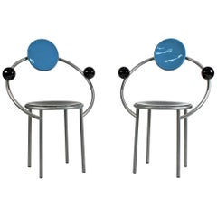 1980s 'First Chairs' by Memphis Milano Designer Michele De Lucchi