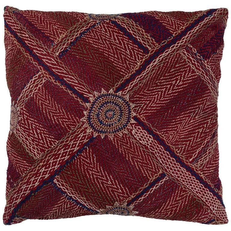 Indian Banjara Embroidered Pillow