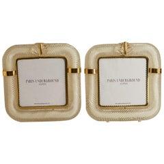 1970s Murano Glass Barovier & Taso Pair with Brass Detail