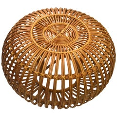 Wicker Ottoman Pouf by Albini