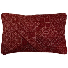 Antique Moroccan Fez Embroidered Pillow