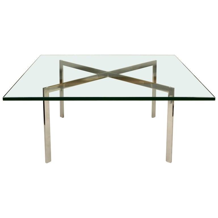 Stainless Steel Knoll Ludwig Mies Van Der Roe Barcelona Table