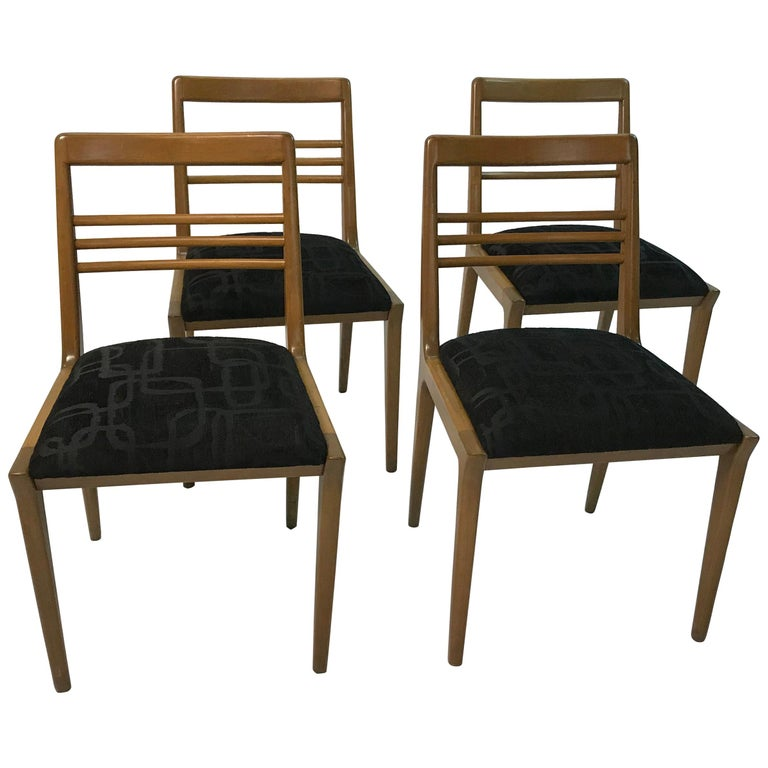 Mid-Century Modern Walnut Dining Chair Set by Kipp Stewart for Drexel