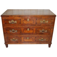 Antique German Walnut and inlaid Commode/ Chest of Drawers Circa 1830