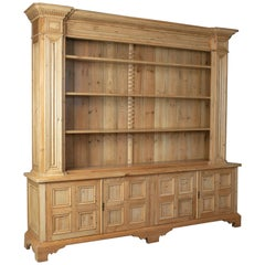 Large Pine Dresser, Antique Pine Stocks, Crafted 20th Century, Classical Revival