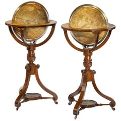 Pair of George III Cary's Floor Globes