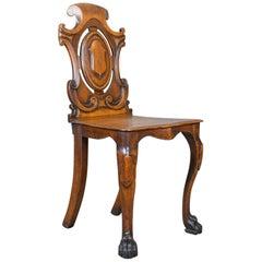 Antique Hall Chair, Scottish, Victorian, Oak, Side, 19th Century, circa 1870