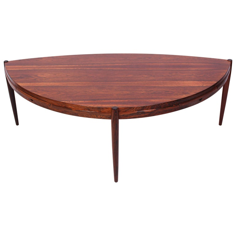 Midcentury Johannes Andersen Rosewood Coffee Table by Trensum