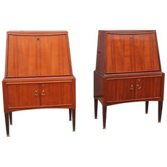 Pair of Cabinet Paolo Buffa Design Mid-Century Modern Bar Furniture