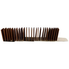 Danish Design 26 Stylish Bookstands in Teak and Stainless Steel, 1960s