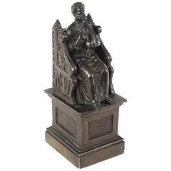 Antique Italian Grand Tour Patinated Bronze Sculpture of St Peter, 19th Century